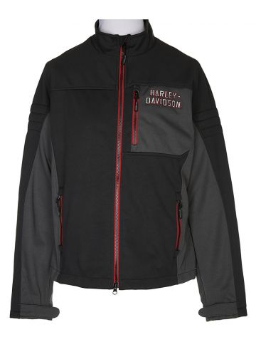 Harley Davidson Black Zip-Up Jacket - L