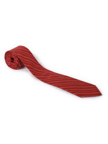80s Lanvin Red Striped Tie
