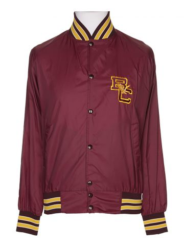 Boston College Eagles Burgundy Football Bomber Track Jacket - M