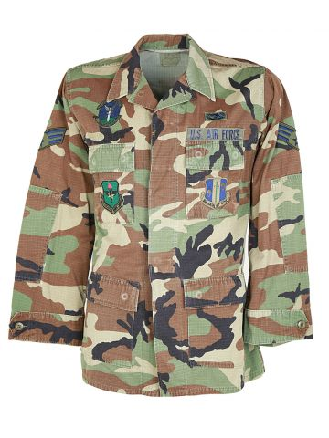 80s US Air Force Camouflage Combat Jacket - M