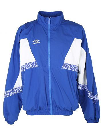 90s Umbro Blue & White Shell Track Jacket - XL