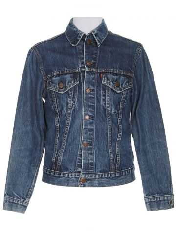 Vintage 60s Levi Big E Indigo Wash Denim Jacket - XXS