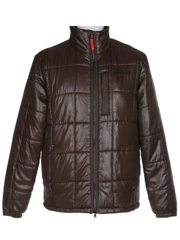 Brown Quilted Puffa Jacket - L