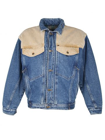 80s Blanket Lined Denim Jacket - M