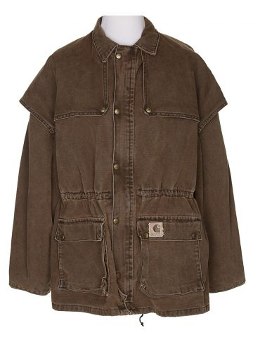 Vintage Carhartt Brown Canvas Hunting Chore Jacket - XL