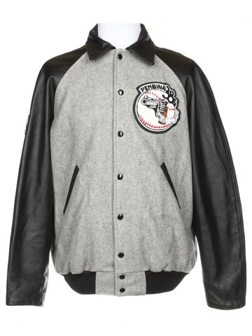 Black & Grey Letterman Jacket - L