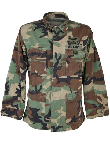 Woodland Camo Us Military Shirt - M