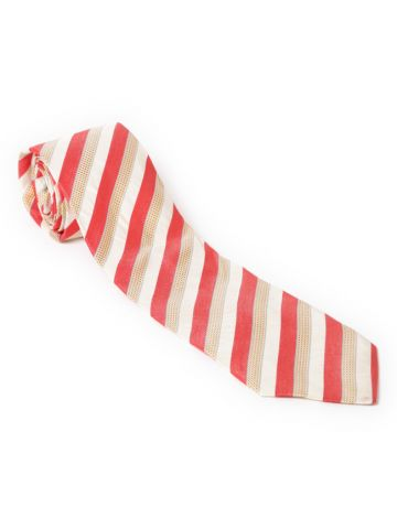 Hugo Boss Red & Cream Striped Tie