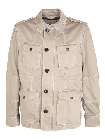 Burberry Brit Beige Canvas Workwear Style Jacket - L