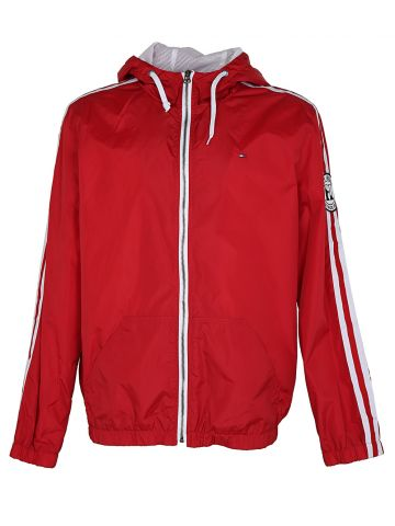 Red Tommy Hilfiger Zipped Cagoule Sports Jacket - L