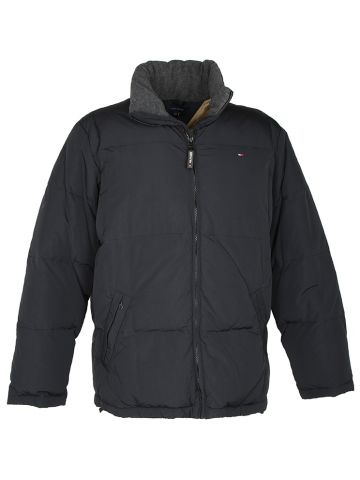 Black Tommy Hilfiger Puffa Jacket  - L