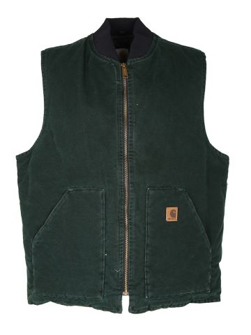 Green Carhartt Duck Canvas Chore Gilet - XL