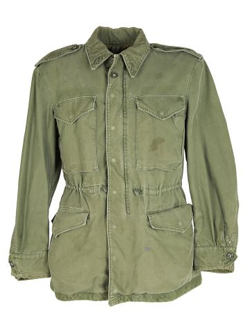 50s US Army Khaki Green Field Jacket - M