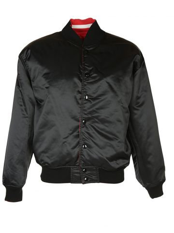 Black & Red Reversible Sports Bomber Jacket - XXL