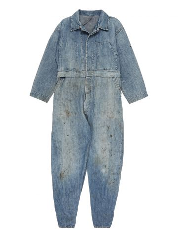 40's Blue Denim Overalls - S
