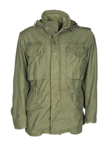70s Green Military Field Jacket - M