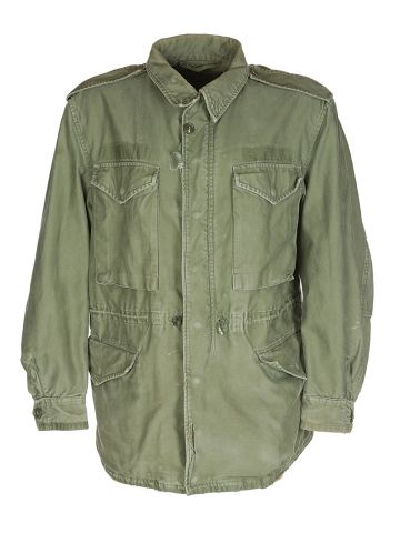 50s US Army Khaki Green Military Jacket - M