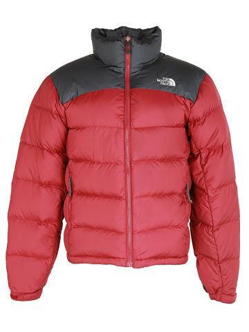 North Face Red & Black Puffa Jacket - S