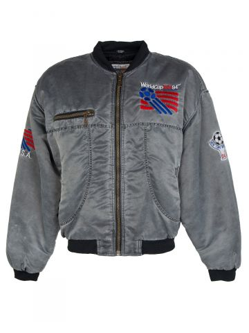 Silver World Cup USA 94 Bomber Jacket - M