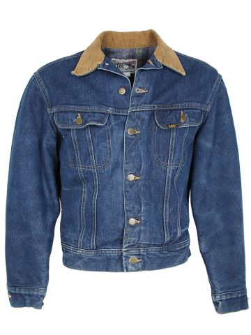 Vintage Lee Storm Rider Blanket Lined Denim Jacket - M