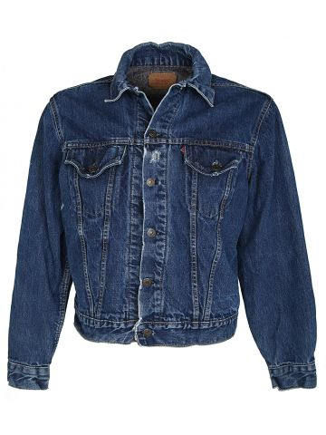 Vintage 60s Levi's Big E Blanket Lined 70505-0317 Denim Jacket - M