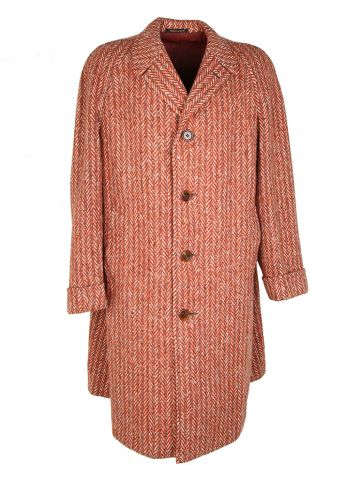 Vintage 50s Tweed Wool Chester Barry Overcoat - XL