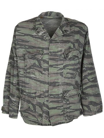 US Army Green Tiger Stripe Camouflage Jungle Jacket - L