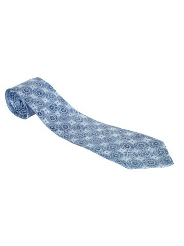 Donald Trump Signature Collection Light Blue Mandala Pattern Woven Silk Jacquard Tie