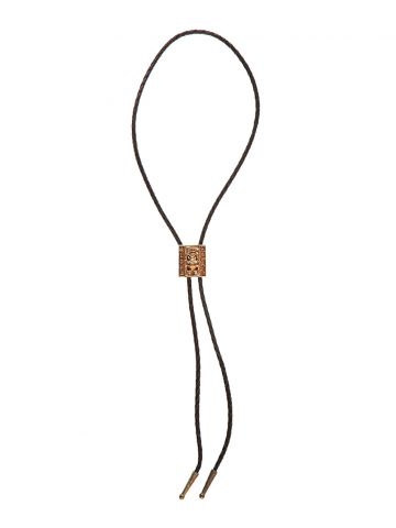 Brown Leather Hawaii Bolo Tie