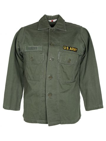 60s Civilian Bought US Army BVD Utility Shirt - M
