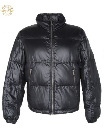 Black Prada Sport Down Padded Puffa Jacket - M