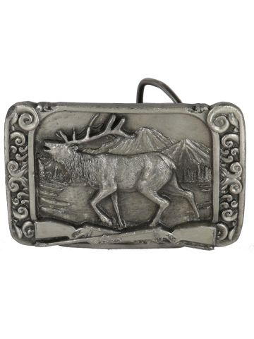 80s Siskiyou Elk Hunting Belt Buckle
