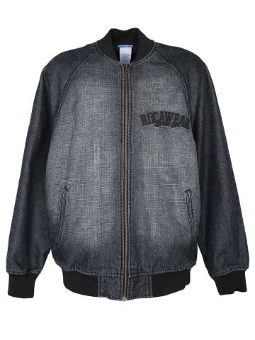 Rocawear Faded Black Denim Bomber Jacket - L