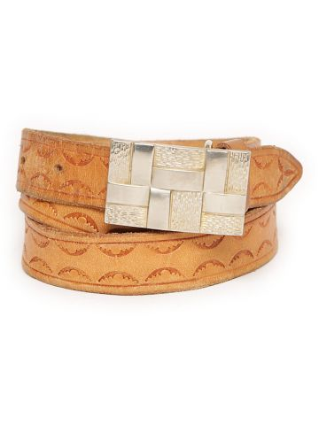 80s Light Tan Leather Belt